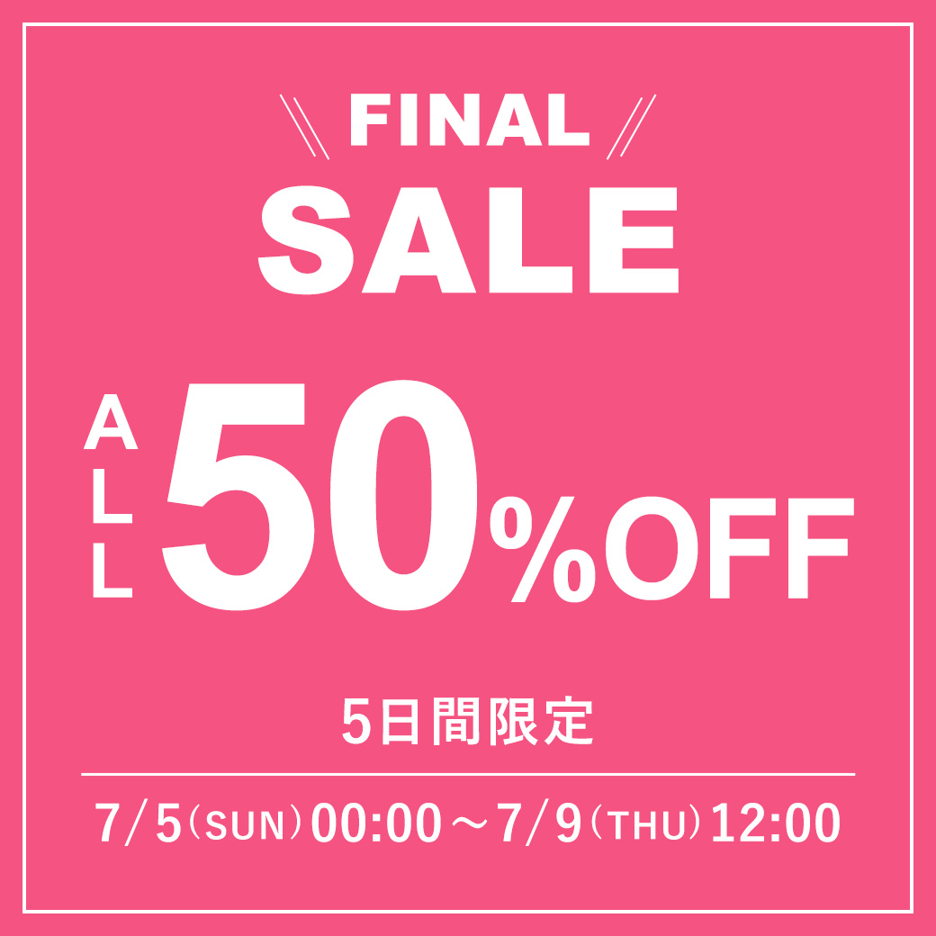 ~9(Thu.)12:00 ALL50%OFF!!